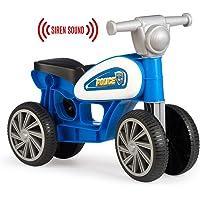 Chicos Correpasillos con cuatro ruedas y sonido Police