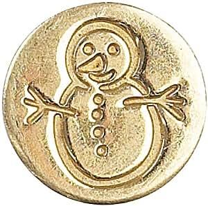 "Decorative Sealing Coin .75""-Snowman"