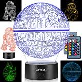 3D Illusion Star Wars Night Light for Kids, 4 Pattern and 7 Color Change NightLight - Perfect Gifts...
