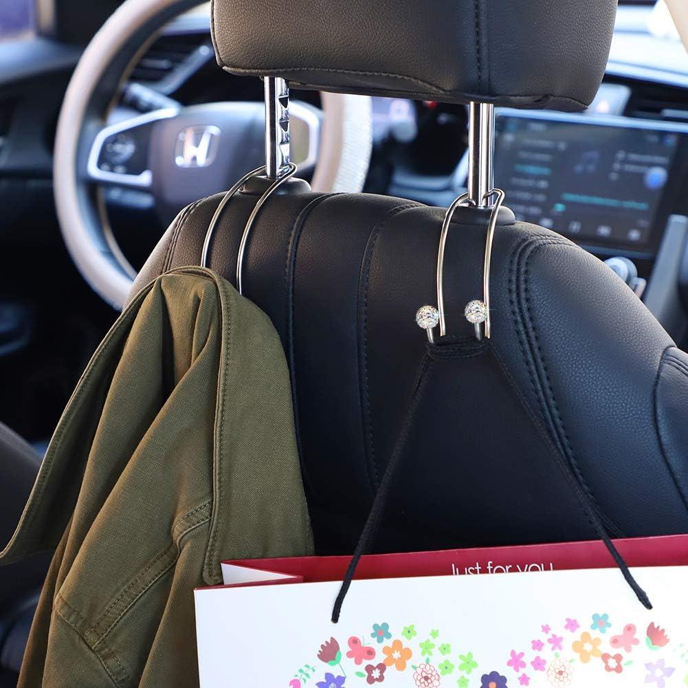 Lunettes de support pour voiture Visor mode bling strass cristal voiture pare-soleil avec verres Accessoires de porte-Clip Ticket amphidrome Argent