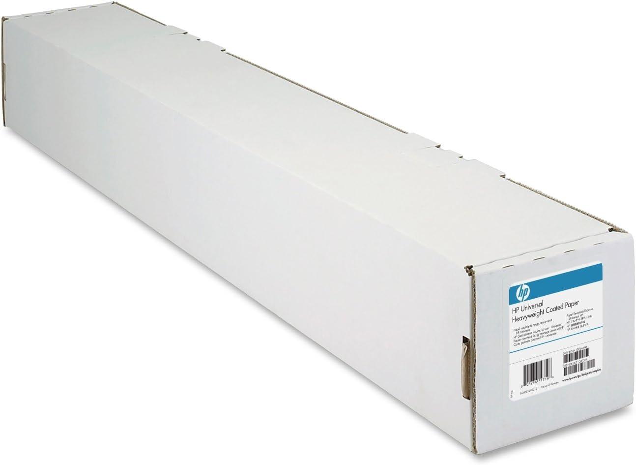 "HP Universal Heavyweight Coated Paper 6.8 mil, 131 g/m2 (35lbs), 2"" core, 1 roll/carton (42"" x 100')"