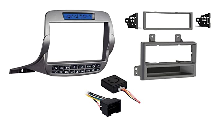 Metra 99-3010S-LC Double/Single DIN Installation Kit for Chevy Camaro Base Model's 2010-15 (Silver)