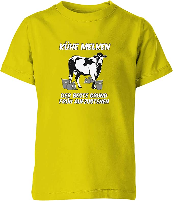 Jayess - Landwirt Kinder Shirt - Mädchen - Kühe melken der