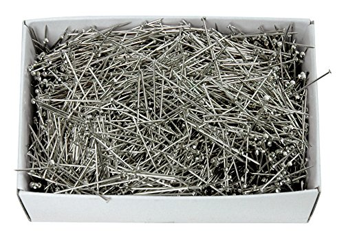 Colonial Needle Dressmaker Pin Bulk Pack, Size 17 Steel, 1-1/16 Inches