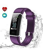 Yakuin Fitness Armband,Wasserdicht IP68 Fitness Tracker mit Pulsmesser, Aktivitäten Tracker, Schlaf, Puls, Sport, GPS, Tracker, Kalorienzähler, Bluetooth