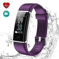 Fitness Tracker mit HD Farbdisplay Clevere Fitness Uhr Armband, Aktivitäten Tracker, Schlaf, Puls, Sport, GPS, Tracker, Kalorienzähler, Bluetooth, Kompatibel mit iOS & Android