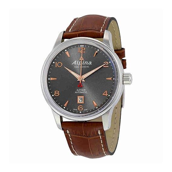 Alpina AL525VG4E6 AL-525VG4E6 - Reloj para hombres, correa de cuero color marrón: Amazon.es: Relojes