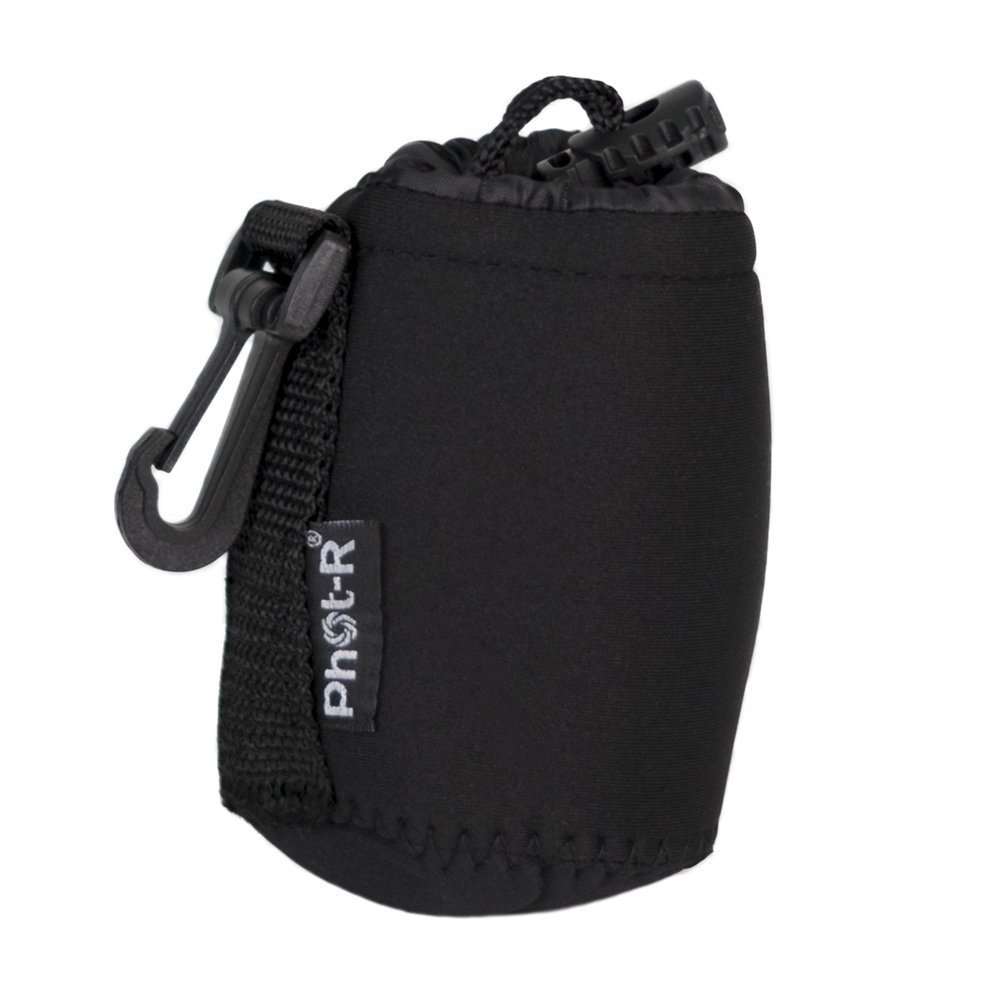 Phot-R Small 8x10cm Thick Soft Neoprene Protective Travel Pouch Bag Case for DSLR Camera Lenses P-LC-S