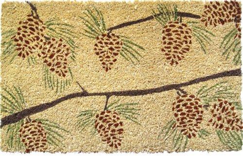 Entryways Pine Cones Non- Slip Coconut Fiber Doormat 17