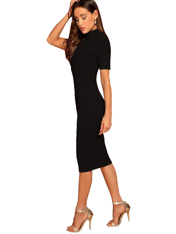 SheIn Womens Short Sleeve Elegant Sheath Pencil Dress