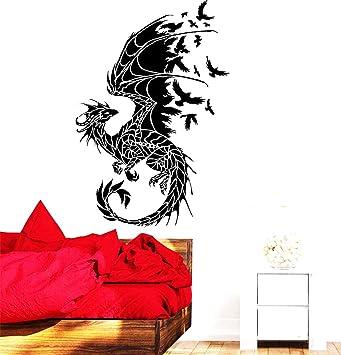 BRILLINT.YY Wandtattoo Schlafzimmer Drachen Silhouette Vögel ...