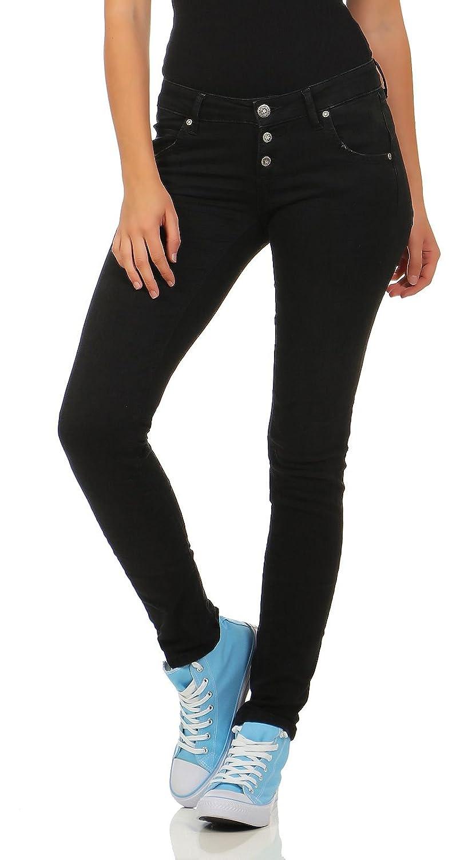 95d33e18a18af7 Beste M.O.D Damen Slim Leg Stretch Jeans Hose Ulla destroyed