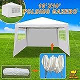 Strong Camel 10'X10' Tent Gazebo EZ Pop Up Wedding Party Canopy Shelter Carry Bag