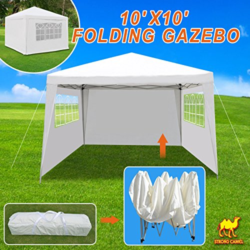 Strong Camel 10'X10' Tent Gazebo EZ Pop Up Wedding Party Canopy Shelter Carry Bag by Strong Camel