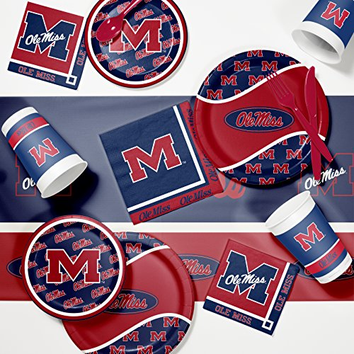 Ncaa Party Kit (NCAA University of Mississippi Game Day Party Supplies Kit)