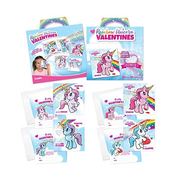 Kangaroo Rainbow Unicorn Valentine's Cards (28-Count) 4