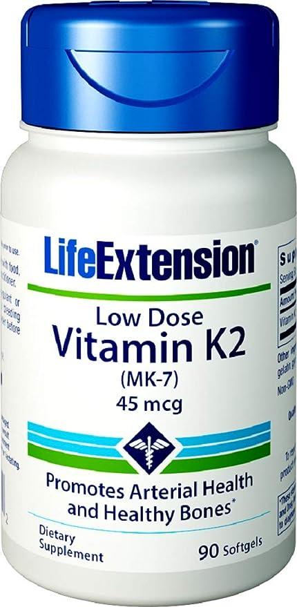 Life Extension, Dosis Bajas de Vitamina K2 - 45mcg x90caps