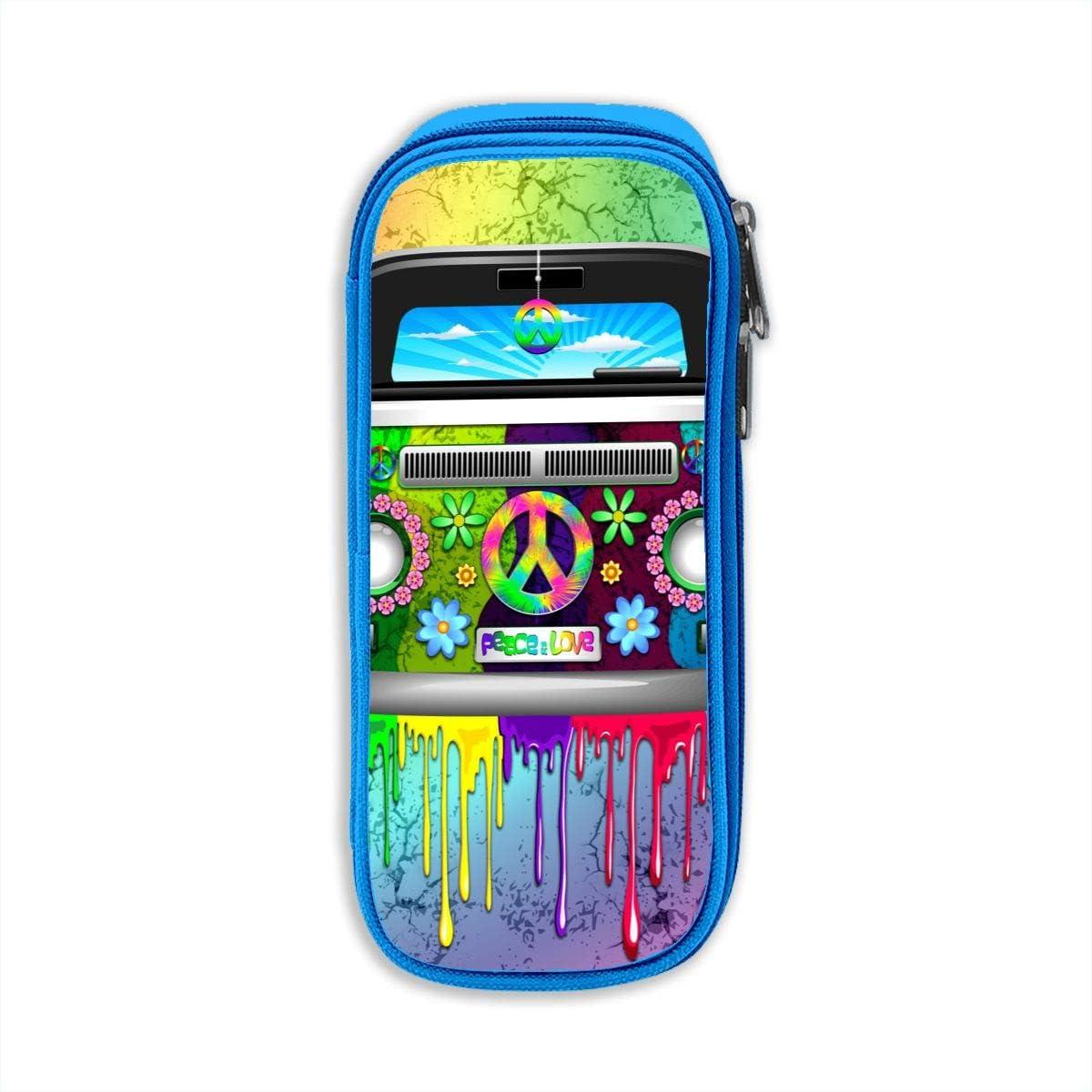 Hippie Van - Estuche para lápices y bolígrafos, diseño de arcoíris: Amazon.es: Oficina y papelería