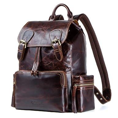GHC Bolsos y Hombro Mochila vintage multifunción, mochila de cuero para hombre Crazy Horse bolso de cuero (Color : Brown, Size : L): Amazon.es: Ropa y ...