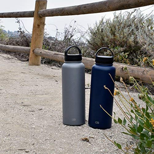 Sailor Blue 18 fl Omnigates Double Walled Vacuum Insulated Stainless Steel Leak Proof Sports Water Bottle with BPA Free Cap Oz. Standard Mouth
