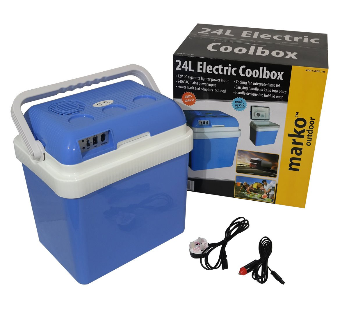 24L Litre Capacity Electrical Coolbox 240V AC & 12V DC Electric Cool Box  Cooler: Amazon.co.uk: Sports & Outdoors