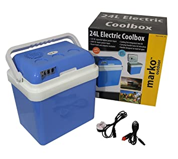24L Litre Capacity Electrical Coolbox 240V AC & 12V DC Electric Cool Box  Cooler