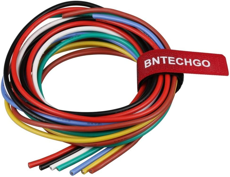 BNTECHGO 10//12//14//16//18 Gauge Silicone Wire 600V 30 Feet 3ft Black and 3ft Red:10AWG,14AWG,12AWG,16AWG and 18AWG Flexible High Temperature Resistant Electric Wire Strands of Tinned Copper Wire bntechgo.com