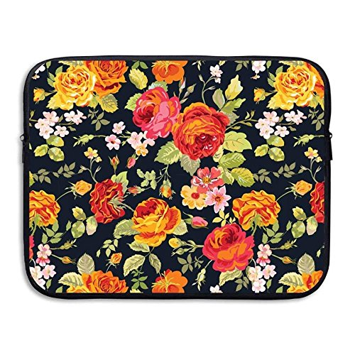 Old Fashioned Fabric (Portable 13-15 Inch Laptop Sleeve, Neoprene Fabric Old Fashioned Cut And Paste Pattern Single Face Protective Cover)