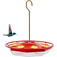 Brwoynn Hummingbird Feeder, 16 Fluid Ounces Flower Bird Feeder with 8 Feeding Stations for Outdoors