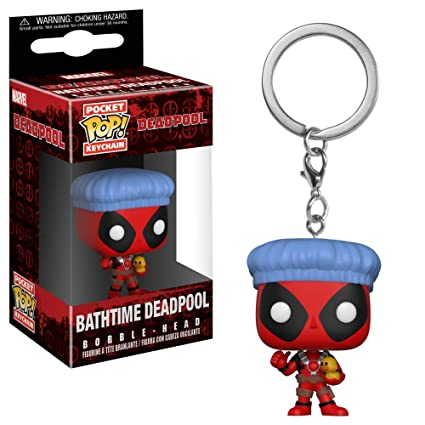 Pop! Keychain Deadpool - Llavero Bathtime Deadpool