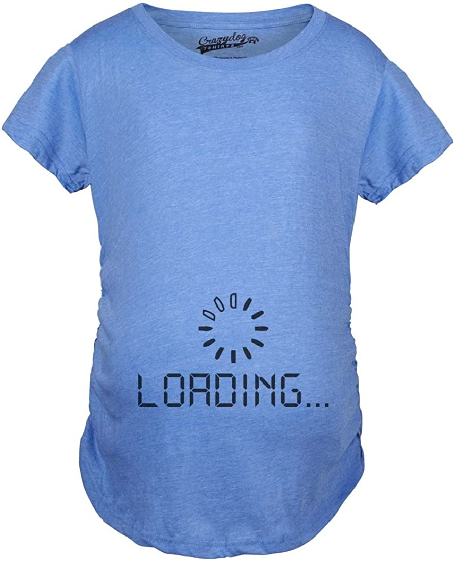 Maternity Baby Loading Shirt Humor Funny Pregnancy Shirts Tees