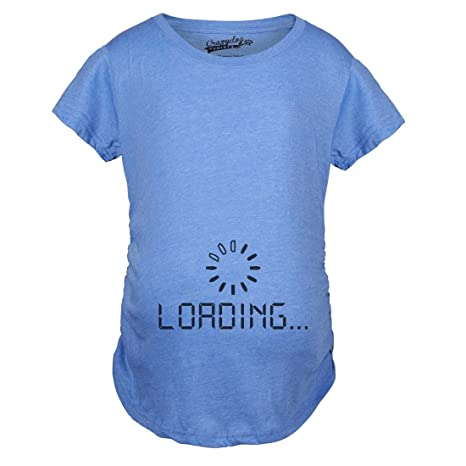 35413d608 Maternity Baby Loading Shirt Humor Funny Pregnancy Shirts Cheap Tees (Blue)  3XL. Roll over image to ...