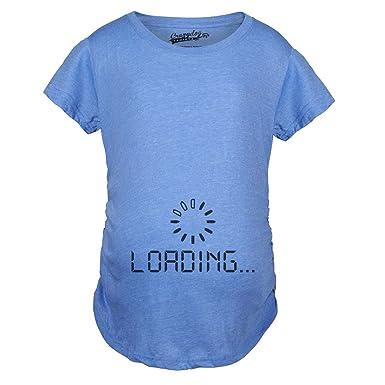 29bddef602055 Maternity Baby Loading Shirt Humor Funny Pregnancy Shirts Tees (Blue) - S