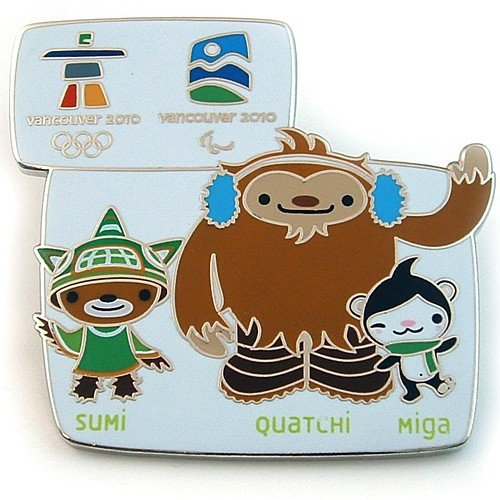 2010 Vancouver Olympic Pins - Vancouver 2010 Olympics - Mascot Family Pin