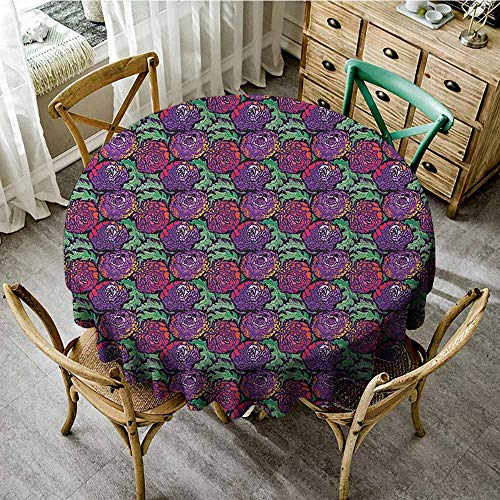 (Rank-T Round Tablecloth Machine Washable 55