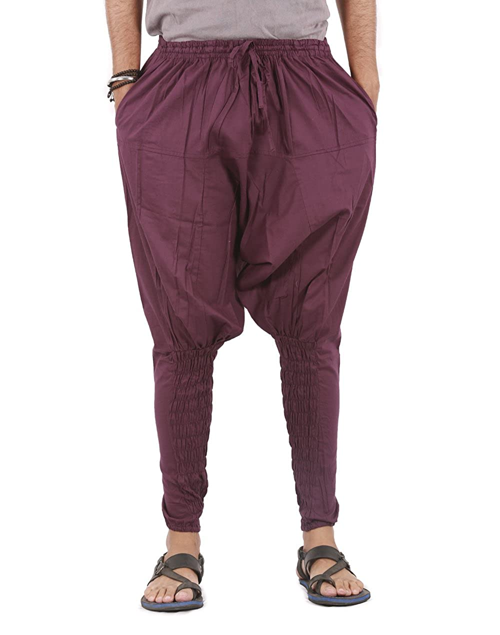 Harem Pants Mens Womens Yoga Cotton Boho Hippie Wide Leg Pants - Ninja Style