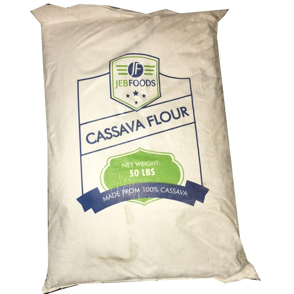 JEB FOODS Cassava flour 50 lbs Bag- No Grittiness, No Smell (Manioc or Yuca Flour) nut- free, grain-free, gluten-free baking, non-gmo, 100% Naturally Grown (50LBS) by JEB FOODS (Image #1)