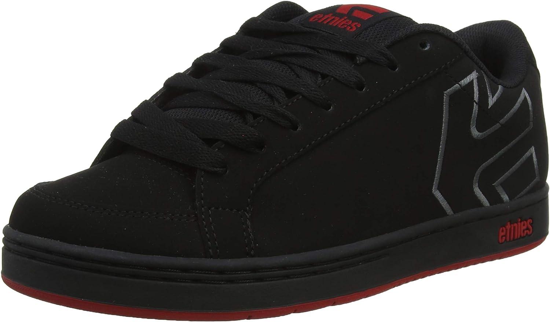 Etnies Men s Kingpin 2 Skate Shoe, Black Dark Grey red, 8.5 Medium US
