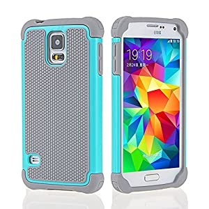 samsung galaxy s5 protective cases for girls. galaxy s5 case,ohoh [shock absorbent] [impact resistant ] samsung case,rubber\u0026plastic hybrid full-body shockproof drop protective case cases for girls r
