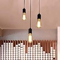 Oursun Industrial Lámpara de araña, Vintage Lámpara de Techo, Lámpara Araña del Techo…