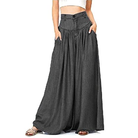 Hlpus - Pantalones vaqueros para mujer, talla grande, pierna ...