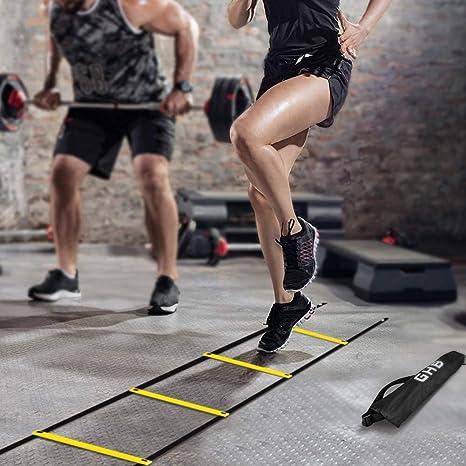 GHB, escala para entrenamiento de fútbol de 12 eslabones, 6 m, con bolsa de transporte: Amazon.es: Deportes y aire libre