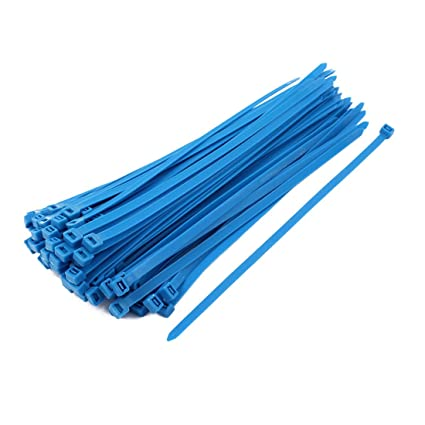 Generic 8mm x 300mm Self Locking Nylon Cable Ties Heavy Industrial Wire Zip  Ties Blue 100pcs: Amazon.in: Home & Kitchen
