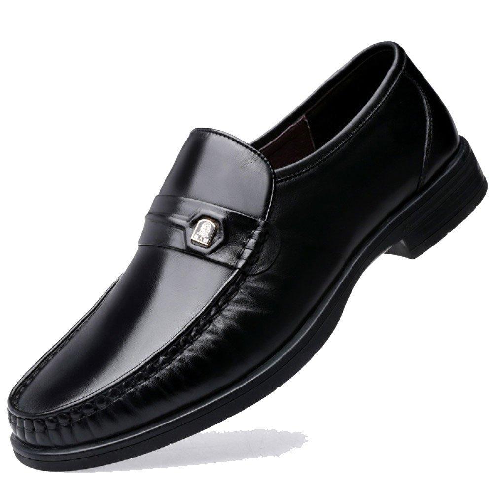 LEDLFIE Herren Herren Lederschuhe Herren LEDLFIE Business Casual Lederschuhe schwarz 84b918