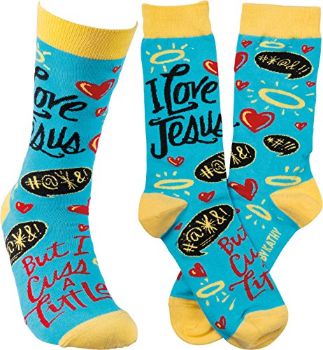 Primitives by Kathy Unisex Socks - Love Jesus ()