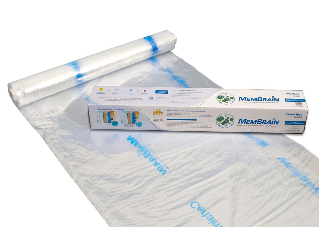 CertainTeed 902018 8'4'' x 50' Smart Vapor Retarder Barrier Helps Prevent Mold Better Than Poly sheeting, Use with unfaced Insulation, Perfect for remodeling