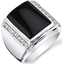 statement silver ring geometric ring black stone ring Vertical Rectangle Onyx Signet Ring onyx stone sterling silver 925