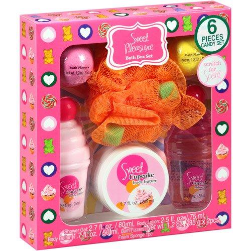 Sweet Pleasure Sweet Cupcake Bath Box Set, 6 pc