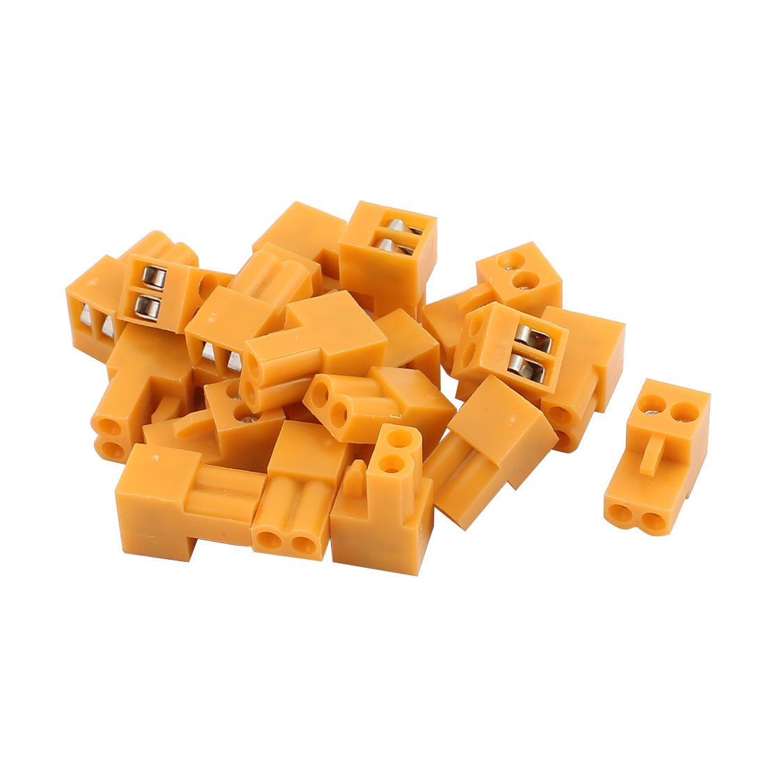 uxcell 20Pcs 300V HT3.96K 3.96mm Pitch 2P PCB Screw Terminal Block Connector Orange US-SA-AJD-222862