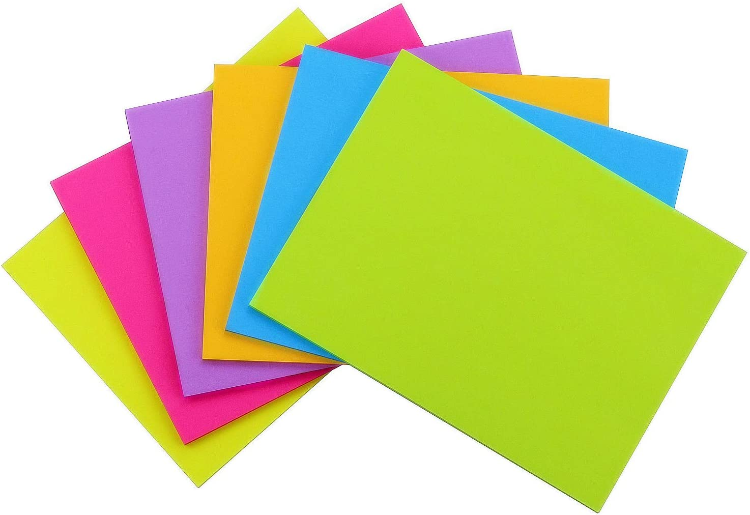 Early Buy Sticky Notes 6 Bright Color 6 Pads Self-Stick Notes 8 in x 6 in, 45 Sheets/Pad